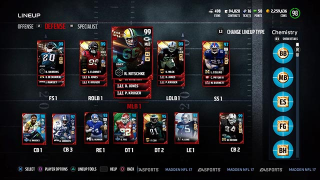 Build Ultimate Team Madden